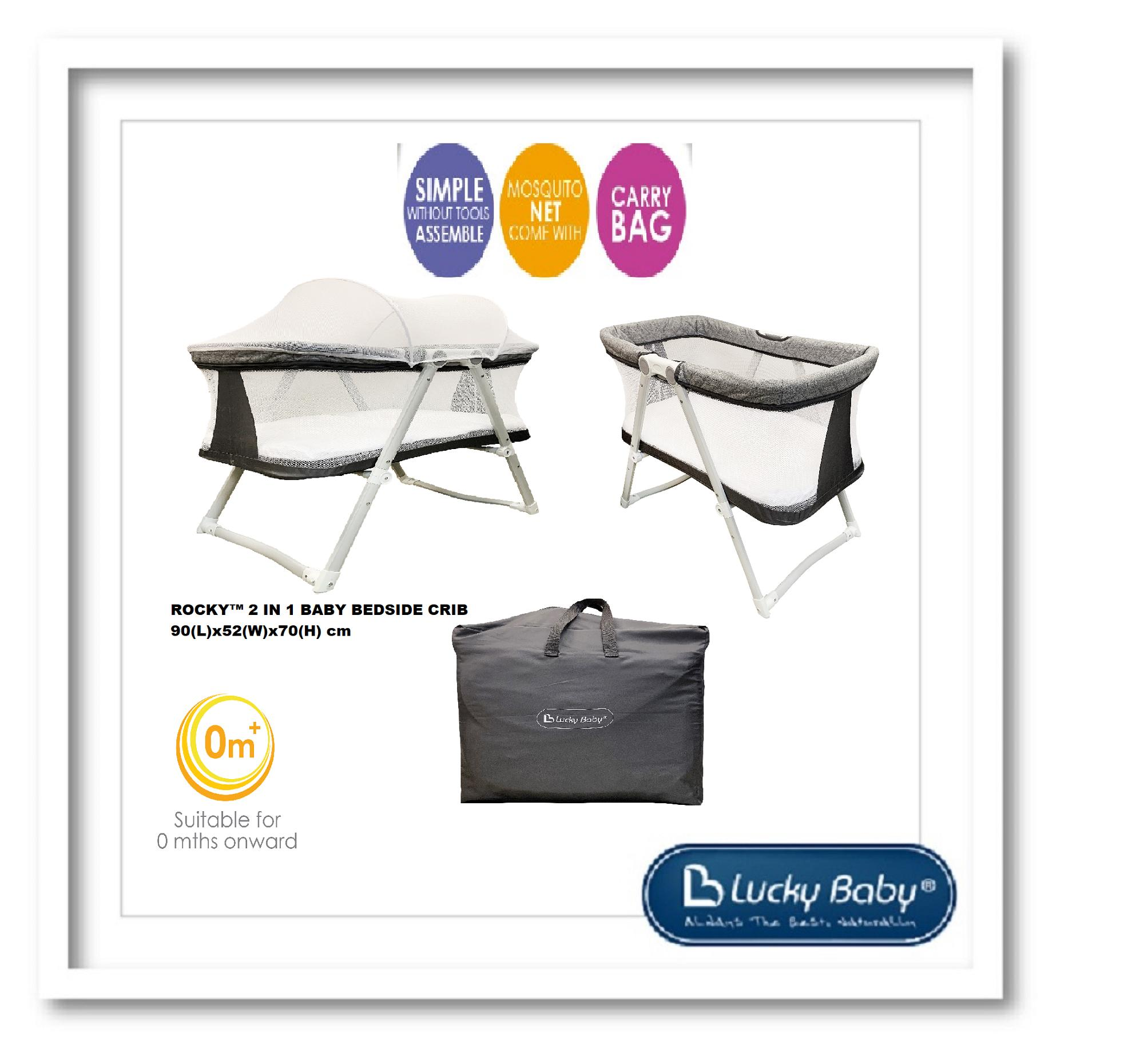 Lucky Baby® 500170 Rocky™ 2 In 1 Baby Bedside Crib By Taime Pte Ltd.