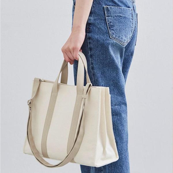 Originality Womens Bag Korean Style Business Briefcase Canvas One-Shoulder Handbag CHIC Fashion Schoolbag File Bag Fashion