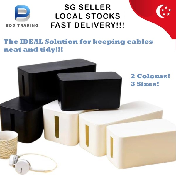 CHEAPEST!!! Cable Storage Organiser Management Box Organizer Extension Computer Wire Socket Plug Child Safe Safety