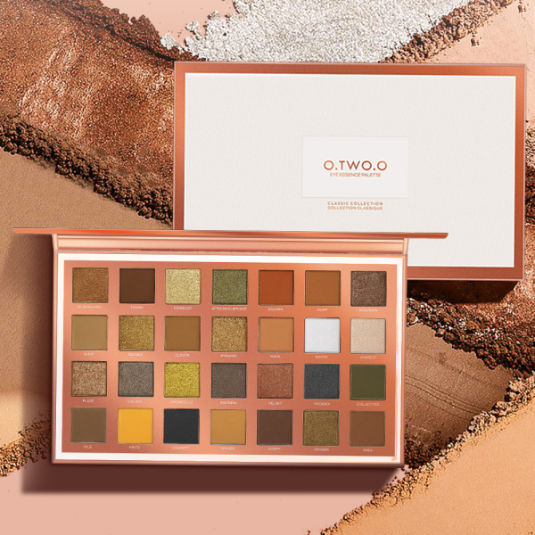 Buy O.TWO.O Eyeshadow Palette Matte & Shimmering Daily Makeup 28 colors Singapore