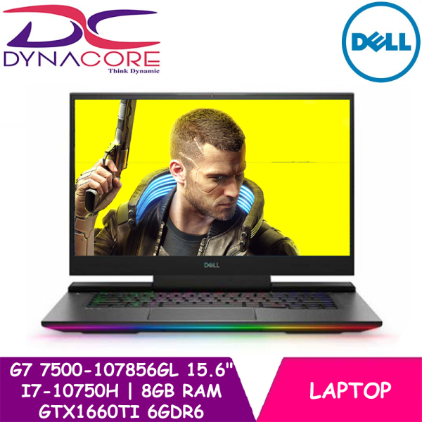 【DELIVERY IN 24 HOURS】 DYNACORE - DELL G7 15 7500 GAMING LAPTOP | 15.6inch | i7-10750H | 8GB RAM | 512GB SSD | GTX1660Ti 6GDR6 | WIN 10 HOME | 7500-107856GL