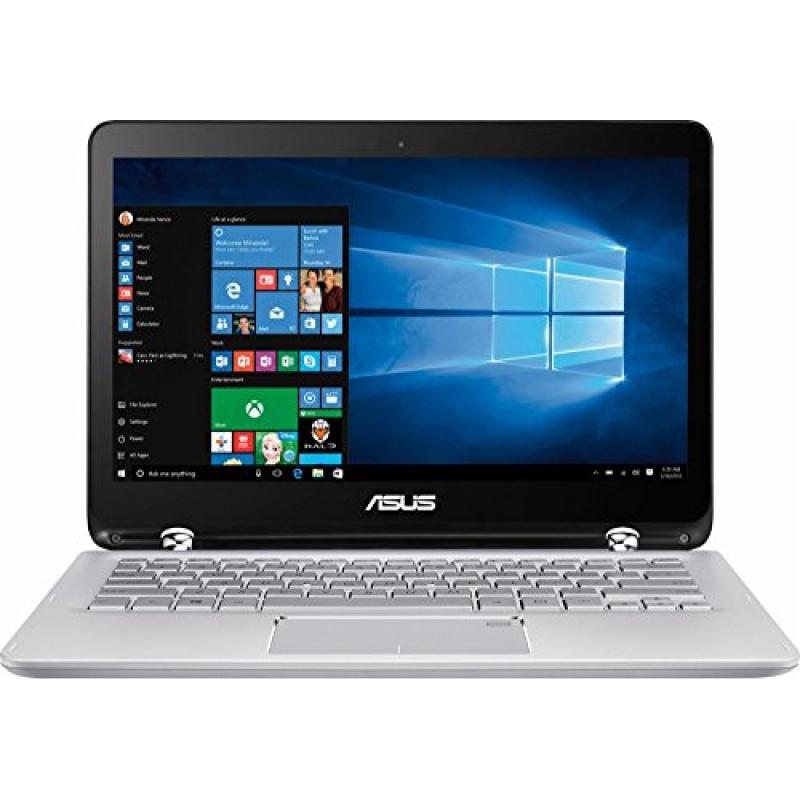 ASUS 2-in-1 13.3  Full HD Touchscreen Convertible Laptop PC, Intel Core i5-7200U 2.50 GHz, 6GB DDR4 RAM 1TB HDD Intel HD Graphics 520 Backlit Keyboard HDMI WIFI Webcam NO DVD Windows 10
