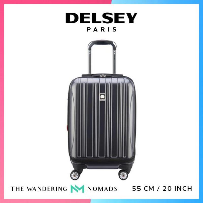 Delsey Helium Aero 55cm 4 Double Wheels Expandable Trolley Case Luggage 20inch - Metallic Grey
