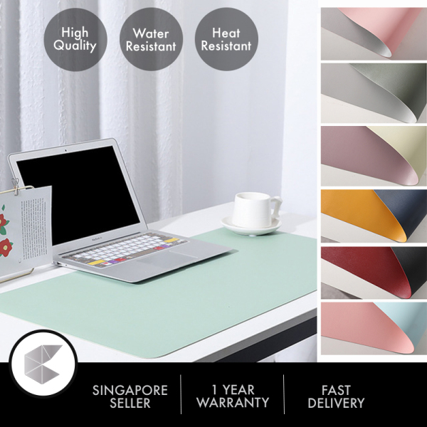 Singapore Ready Stock 1pcs 70x35cm / 80x40cm / 90x45cm / 100x50cm High Quality Extended MousePad Large Leather Mouse Pad Office Laptop Mat Computer Desk Cushion Modern Table Game Keyboard Soft Top Quality