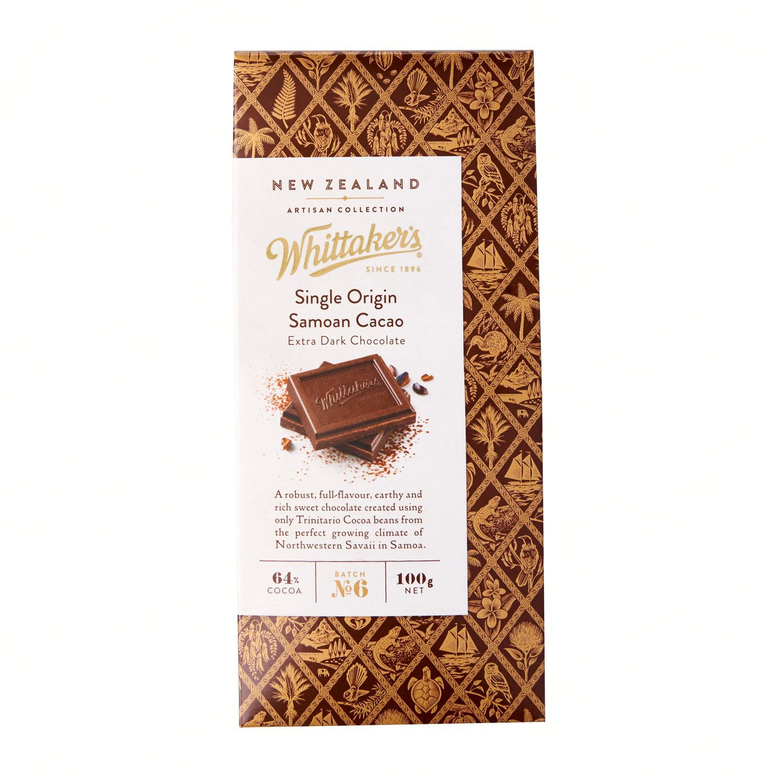 Whittaker's Single Origin Samoan Cacao Chocolate Artisan Collection