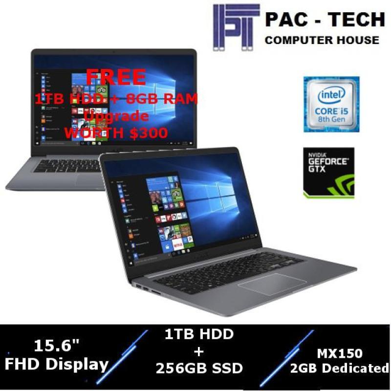 Asus S510UN-BQ250TS FREE UPGRADE Worth $200 / i5-8th Gen / 1TB HDD(FREE) + 256GB SSD / 8GB RAM + 8GB RAM(FREE) / Nvidia MX150 / 15.6 Full HD / 2 Year Warranty