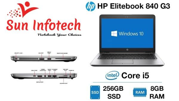 HP ELITEBOOK 840 G3, CORE I5 -6300U GEN 6, 8GB RAM, 256 GB SSD, WIN 10 PRO, MS office (Refurbished)