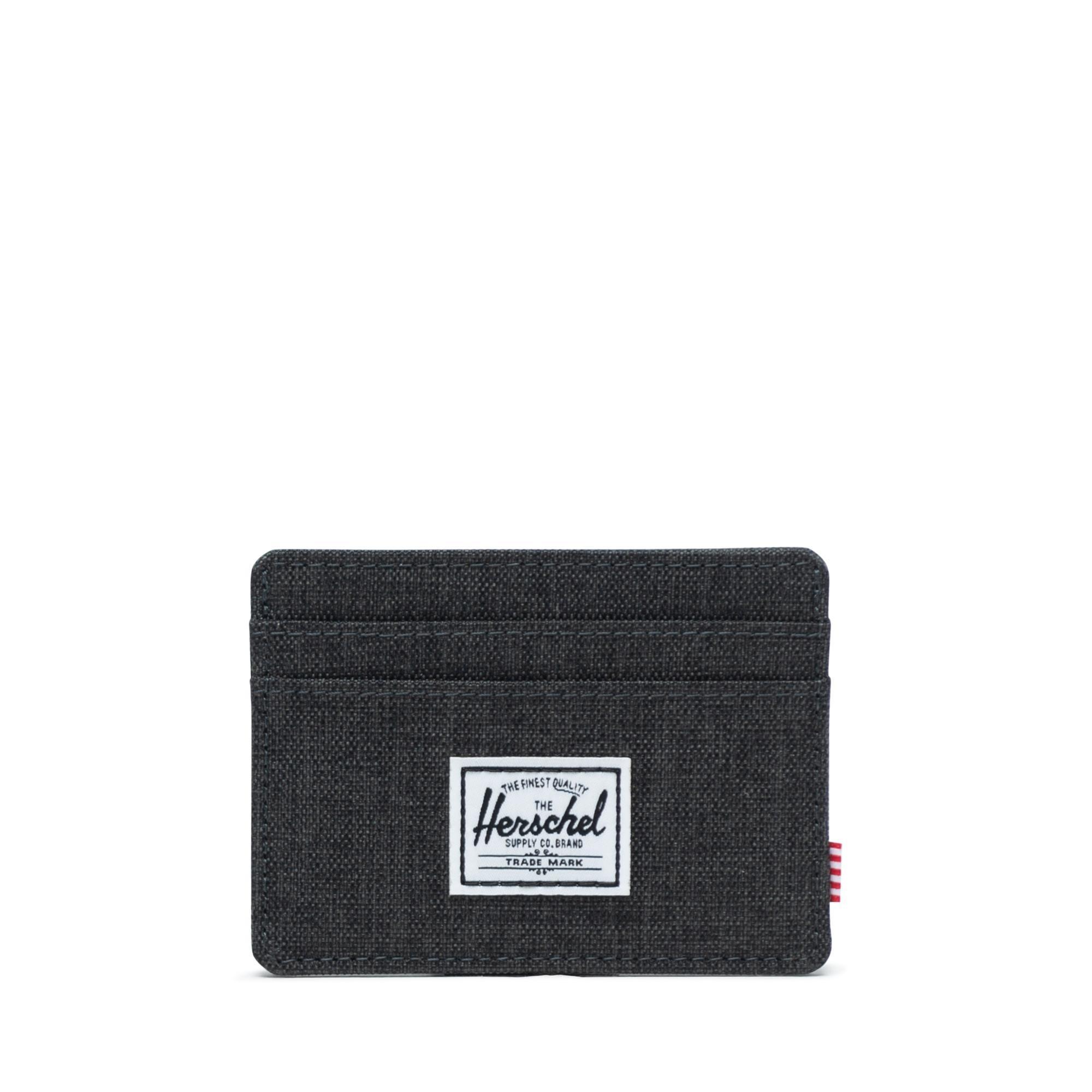 Herschel Charlie RFID - Black Crosshatch