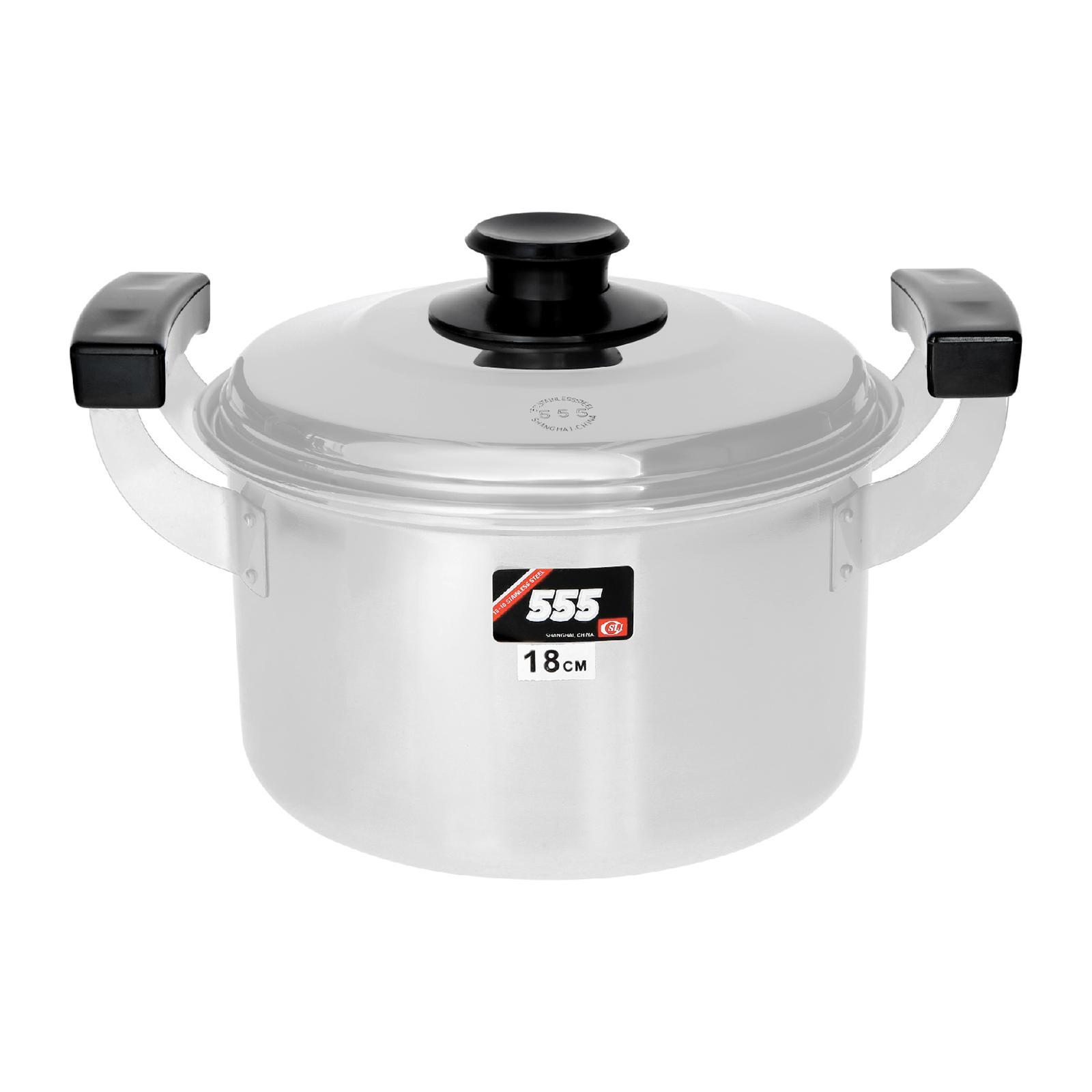 555 Classic Stainless Steel Cooking Pot 18CM