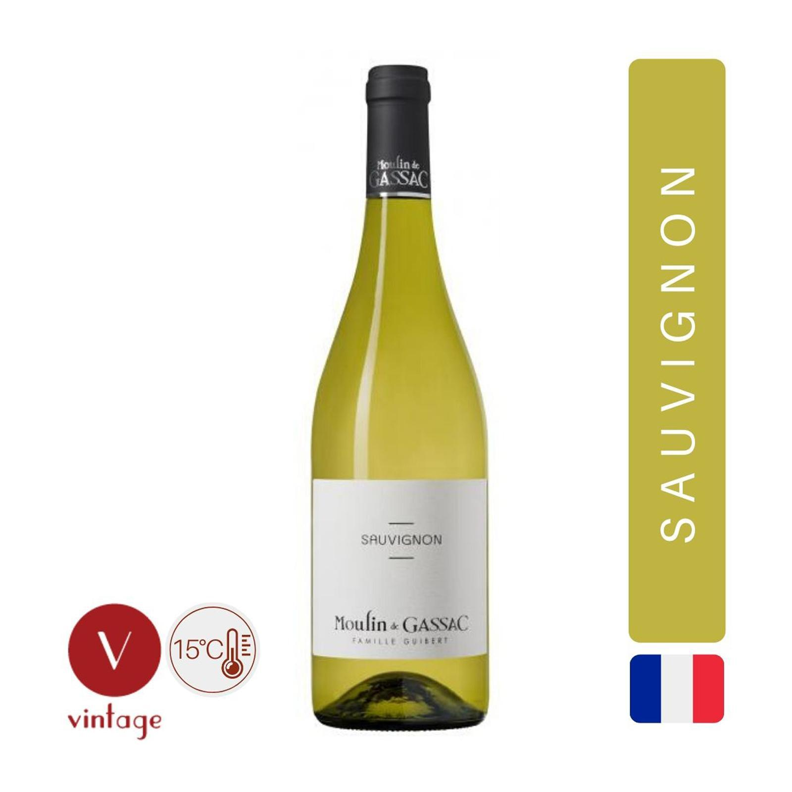 Moulin De Gassac - Sauvignon Blanc -White Wine - By The Vintage Wine Club