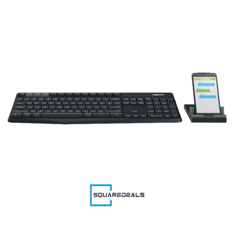 Logitech K375s Multi Device Wireless Keyboard and Phone Stand Combo Black Singapore