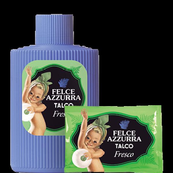 Buy Felce Azzurra Talcum Bottle Fresco + Free talcum refill 100g Singapore
