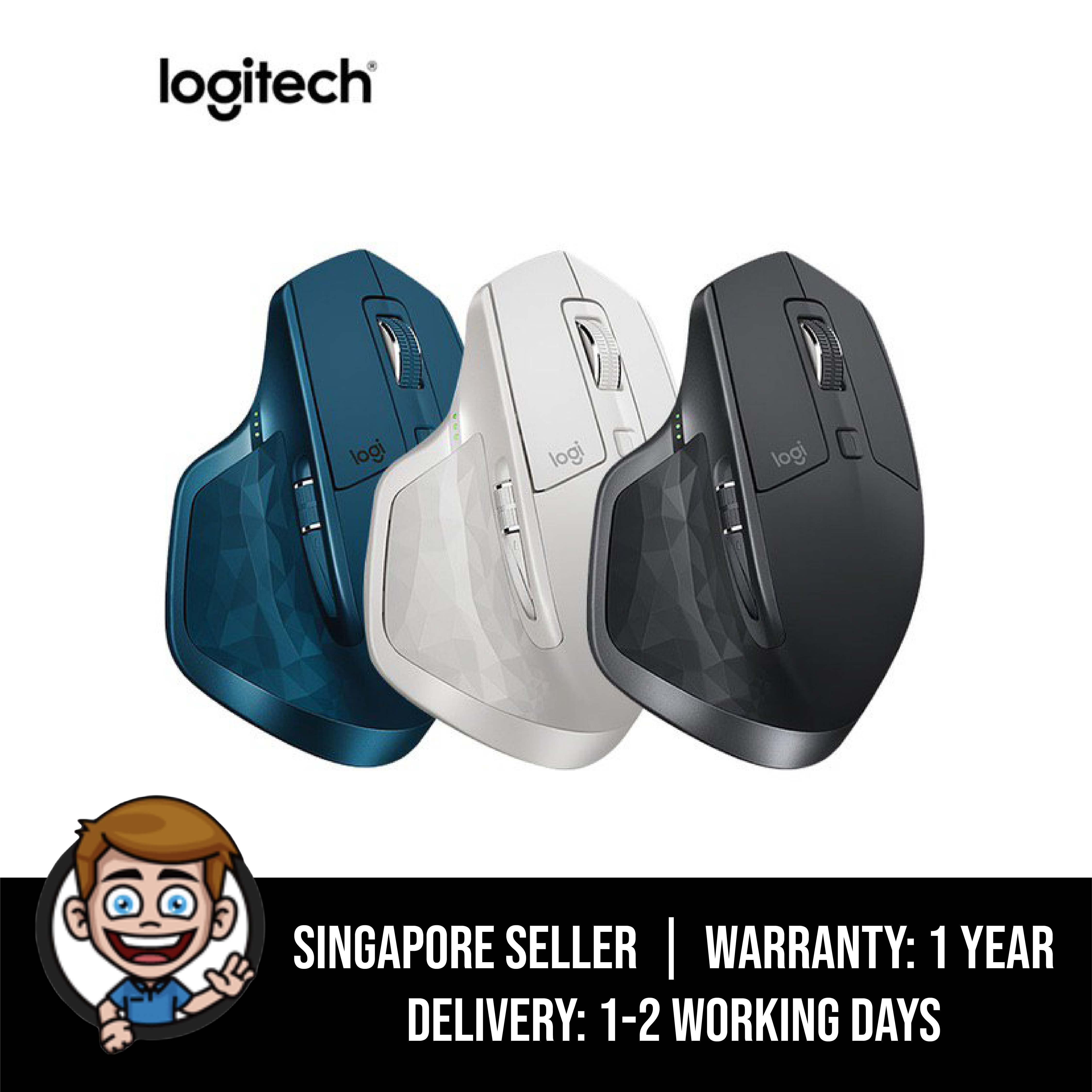 Logitech MX Master 2S Wireless Mouse – Use on Any Surface, Hyper-Fast Scrolling, Ergonomic Shape, Rechargeable, Control up to 3 Apple Mac and Windows Computers (Bluetooth or USB)