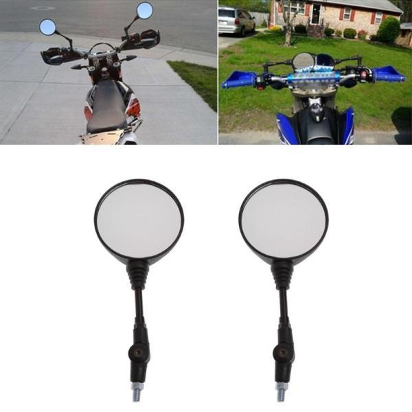 Miễn Phí Vận Chuyển Phổ Thông 1 Cặp Xe Mô Tô Gập Gương Bên Gương Chiếu Hậu 10 Mm Cho Yamaha Honda Chất Lượng Cao giá rẻ