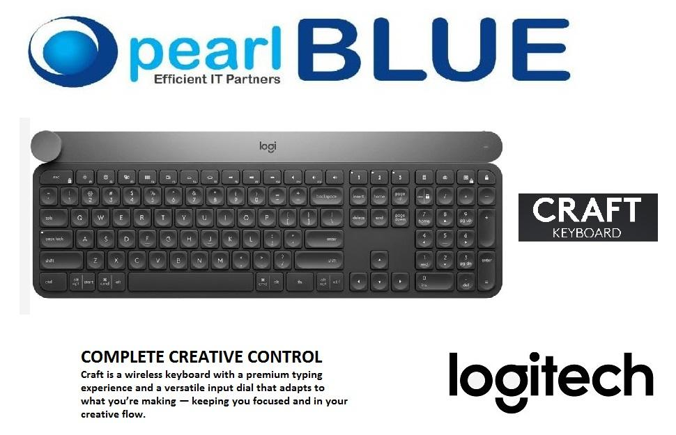 Logitech Craft Multi-Device BT & Wireless Keyboard wit Creative Input Dial Singapore