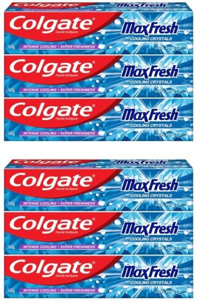 Buy COLGATE (Bundle of 6) Toothpaste [Max Fresh 160g] Singapore