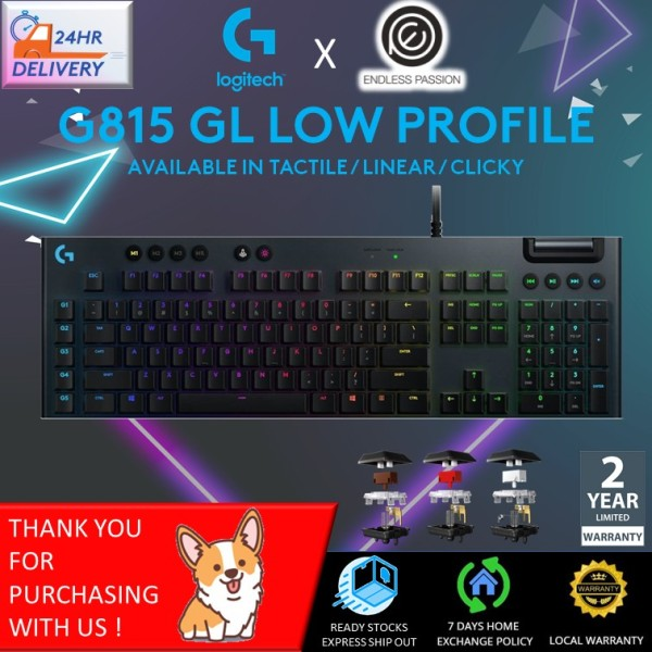 Logitech G815 Lightsync RGB Mechanical Gaming Keyboard [Free 24 hours delivery]