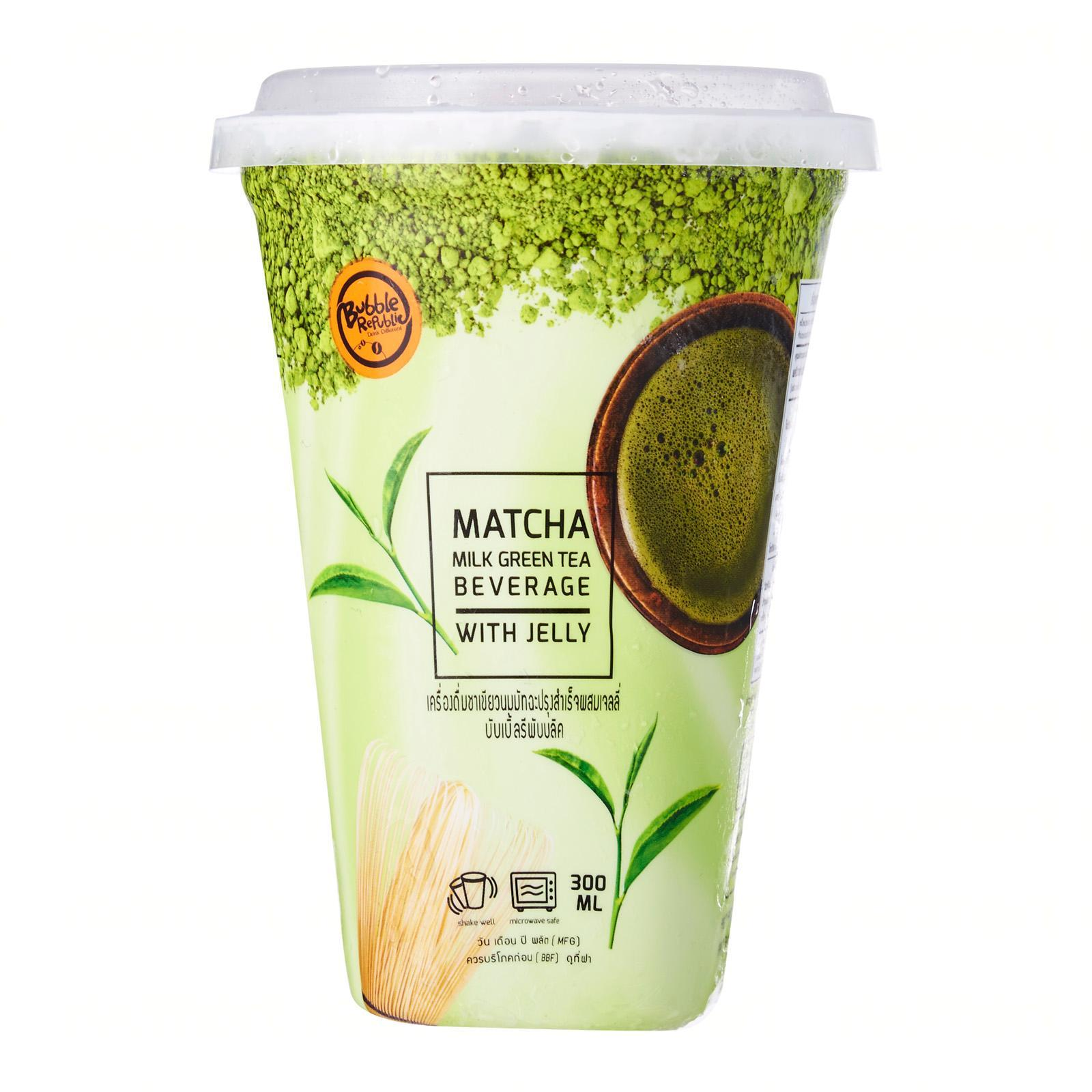 Bubble Republic Matcha Latte With Jelly - Frozen