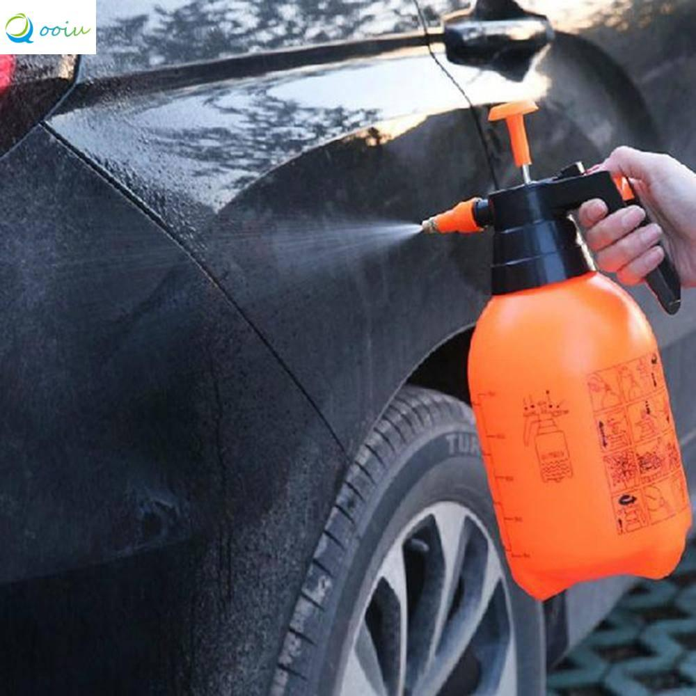 Qooiu 2L Portable Professional Car Wash Tool Garden Plant Irrigation Pneumatic Spray Bottle