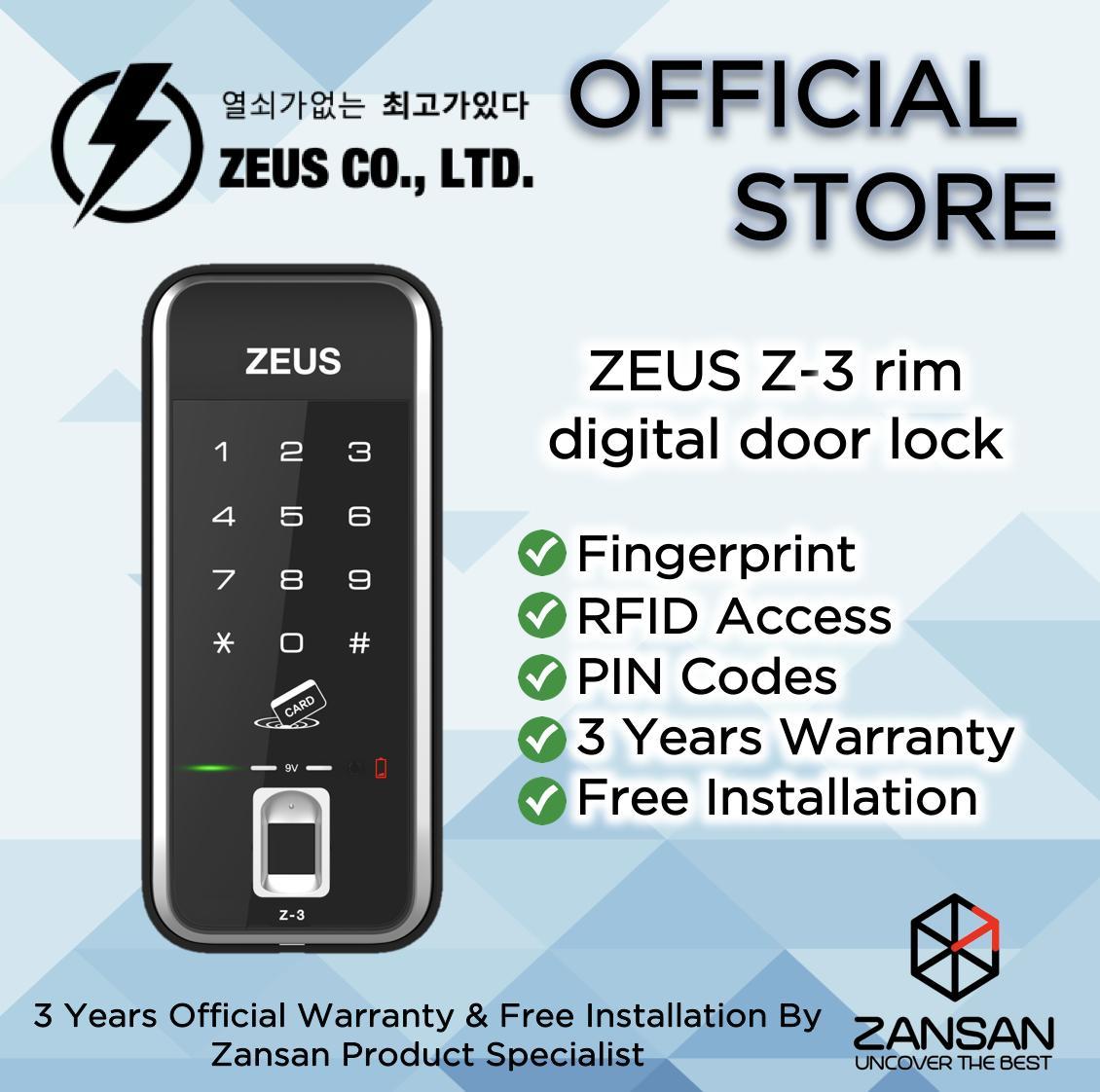 Zeus Z-3 Digital Door Lock