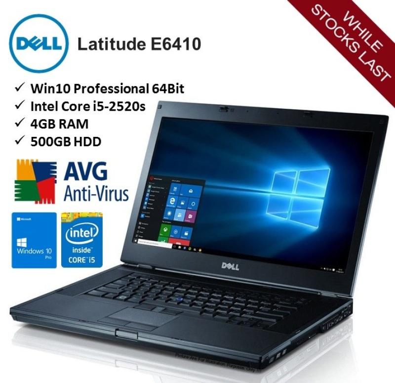 [Refurbished] DELL Latitude E6410 Intel Core i5 2nd Gen 2520M 4gb 128gb SSD Notebook/Laptop Windows10 Professional 64bit - Ready Stock
