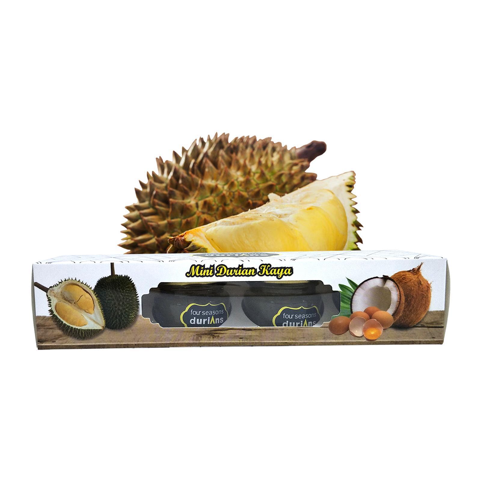 Four Seasons Durians Durian Kaya Bottle Mini 30g x 4