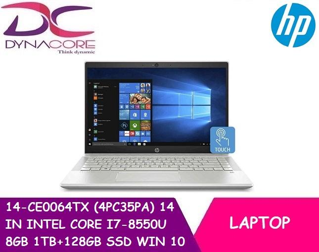 HP 14-CE0064TX (4PC35PA) 14 IN INTEL CORE I7-8550U 8GB 1TB+128GB SSD WIN 10