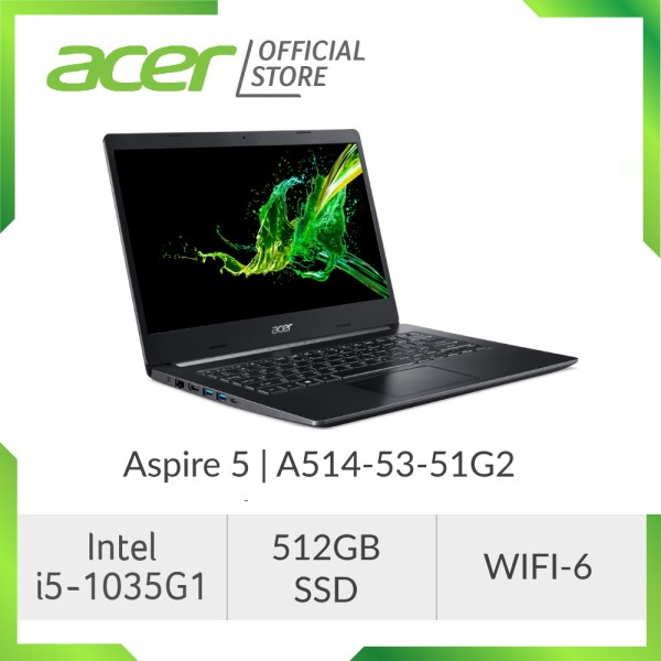 Acer Aspire 5 A514-53-51G2 Laptop - 10TH GEN I5 PROCESSOR / 14 DISPLAY / 512GB SSD