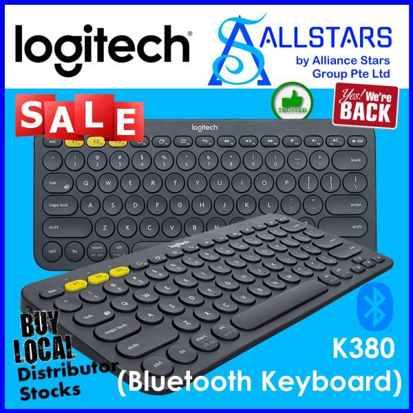 ALLSTARS : We are Back / Keyboard Promo) LOGITECH K380 Multi-device Bluetooth Keyboard (Black : 920-007596 / Blue : 920-007597 / Rose : 920-009579 / White : 920-009580) (Local Warranty 1year with Local Distributor BanLeong) Singapore