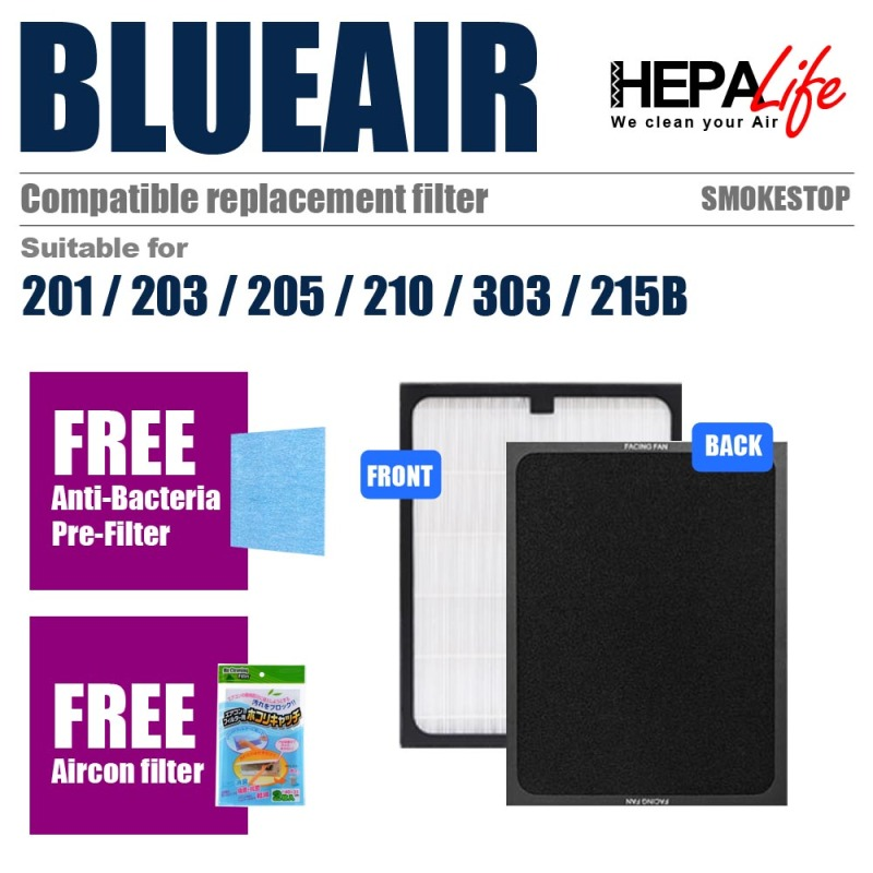 BLUEAIR 200 Series Compatible Smokestop Filter  - Hepalife Singapore