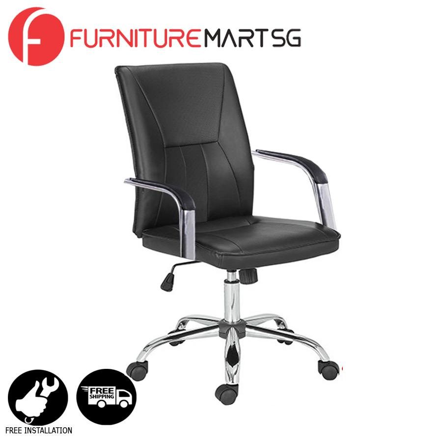 [FurnitureMartSG] Marcia Office Chair in Black_FREE DELIVERY + FREE INSTALLATION