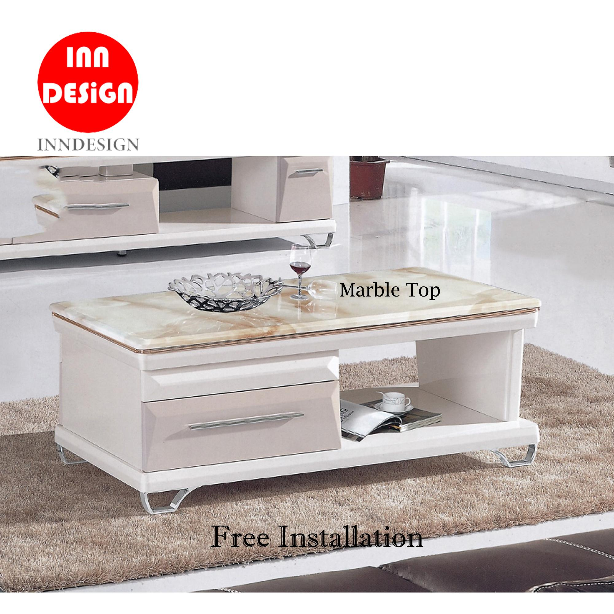 Jewel Marble Top Coffee Table (Free Delivery and Installation)