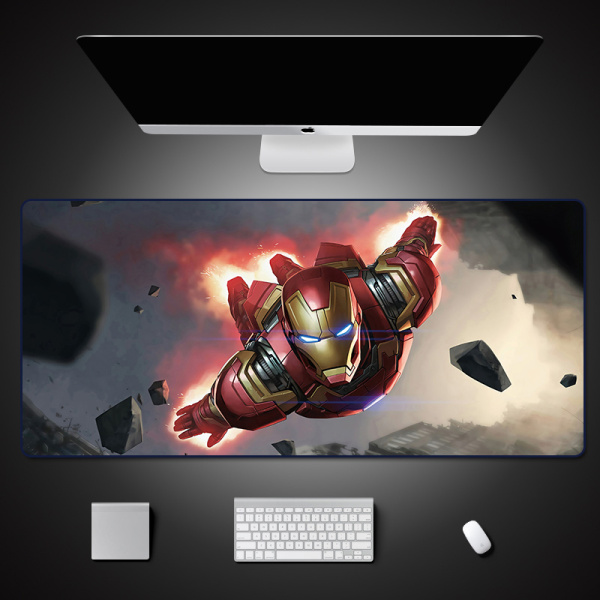 Mouse Pad Large Iron Man Table Mat Spiderman Computer Desk Pad Table Mat ACE Gaming Mouse Mat Customizable MARVEL Related Products