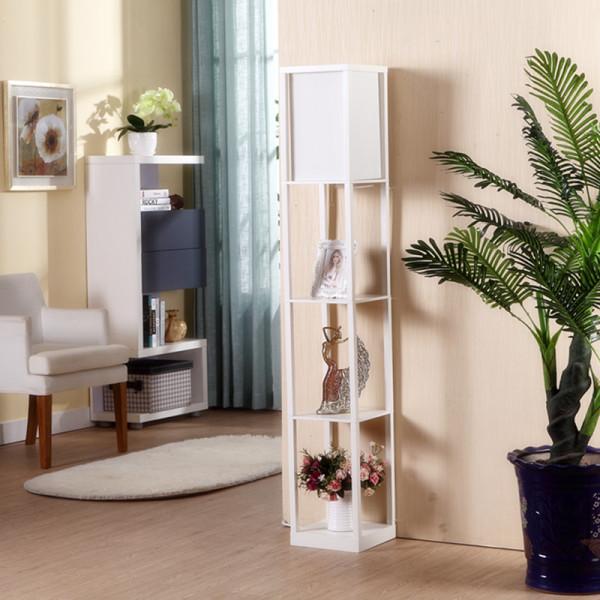 Modern Minimalist Living Room Sofa Side Table Teapoy Table Desk Lamp Bedroom Bedside Vertical Type Lamp Library Storage Shelf Floor Lamp