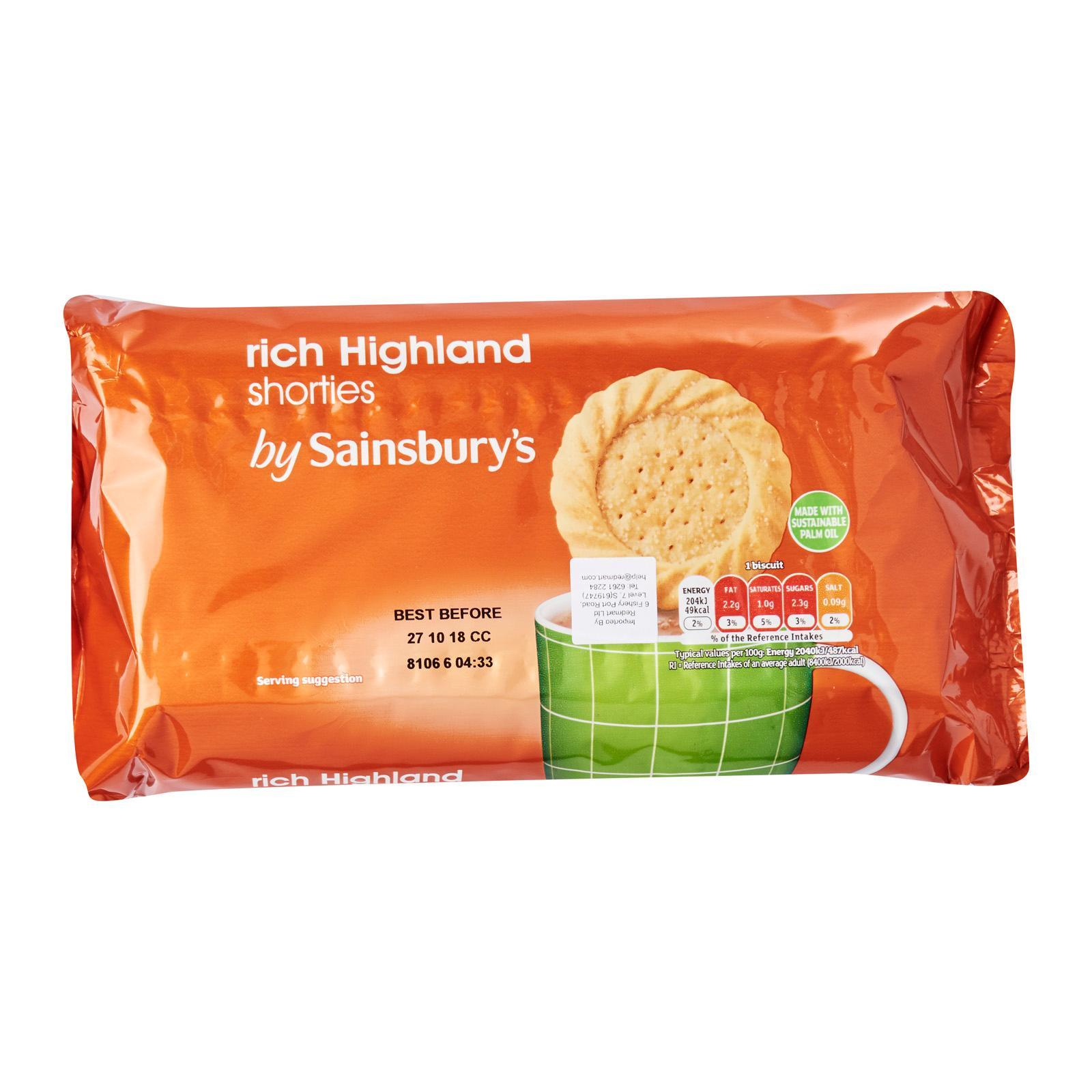 Sainsbury's Rich Highland Shorties Biscuits