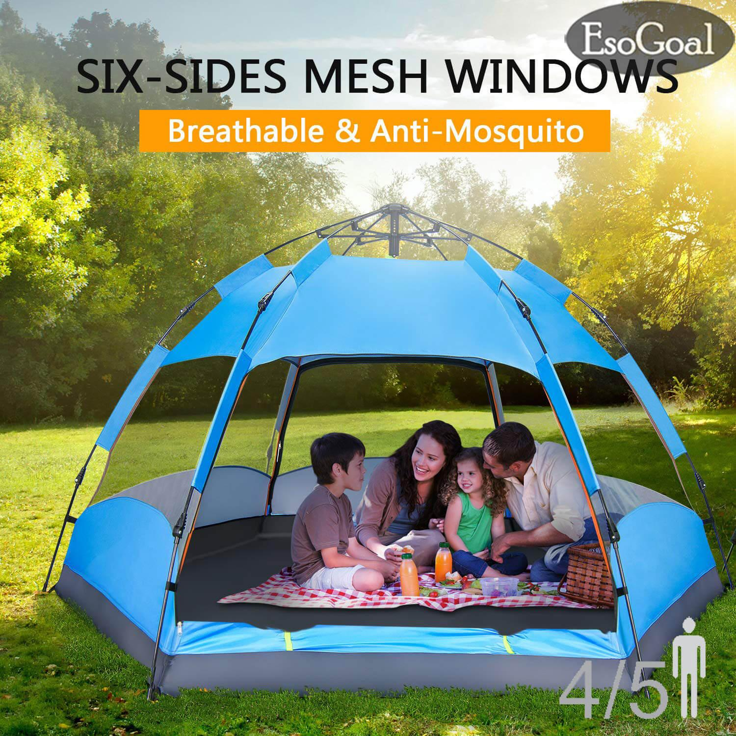 EsoGoal Quick Automatic Opening Ultralight Tents 4-5 Person Automatic Rapid C&ing Tent 2 Second & Buy Tents Furniture | Kitchen Storage | Lazada.sg