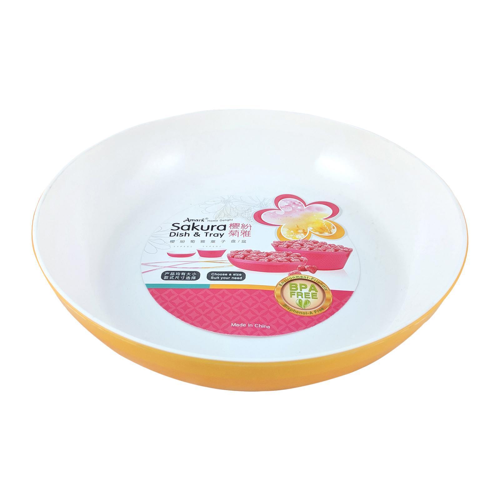 Amark Sakura Medium Shallow Dish 23 CM (Orange)