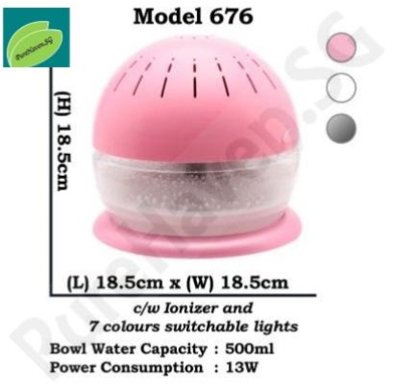 [BNIB] GOOD FOR HOME! Model 676 Water Air Purifier! With Ionizer & Changeable Lights! 500ml Singapore