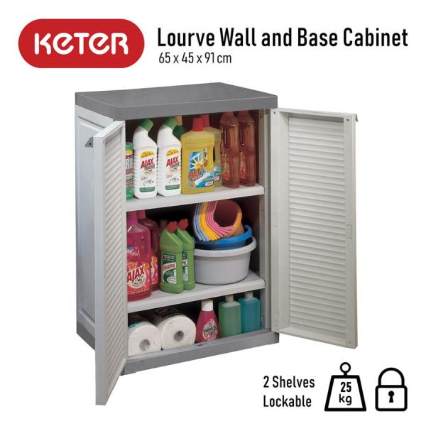 Keter Lourve Wall and Base Cabinet