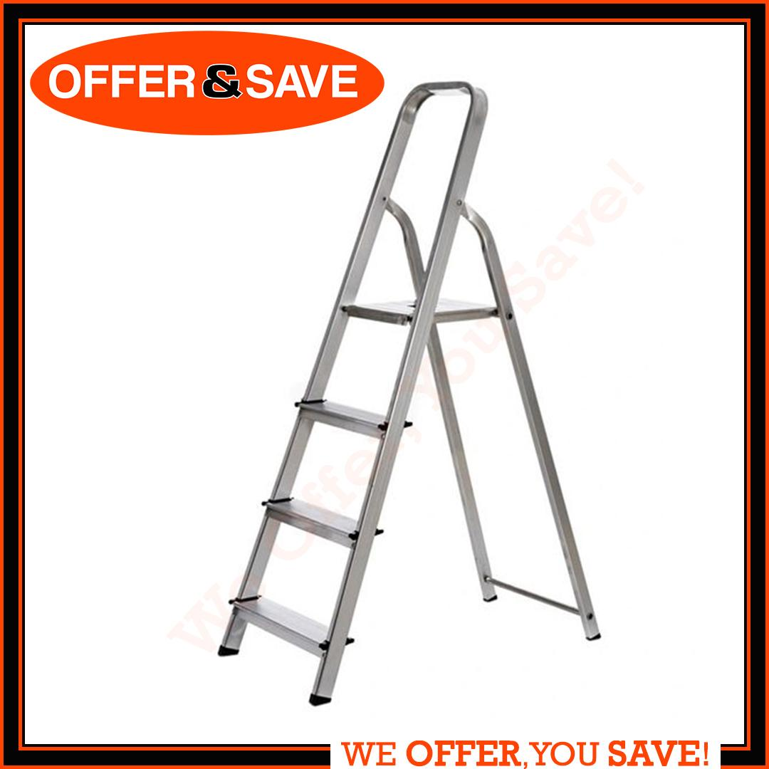 Only Do High Quality Safety 4 Step Aluminium Ladder Black