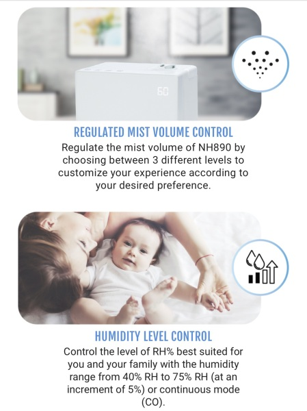 Novita Humidifier Model NH890 Singapore