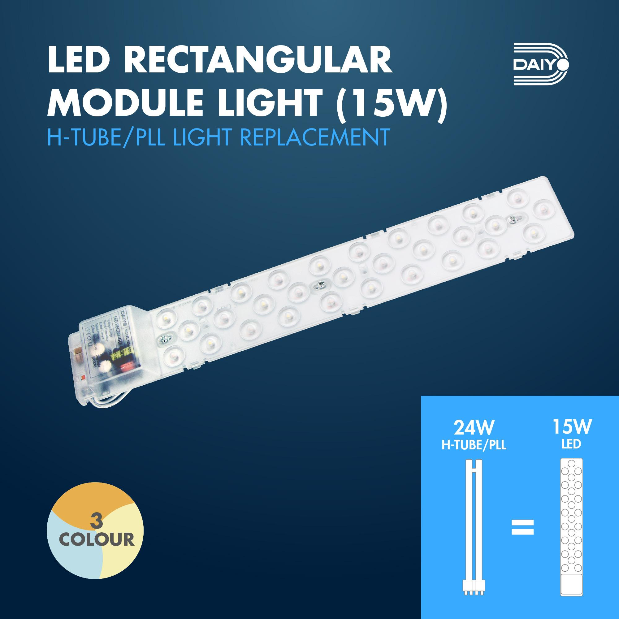 15W LED Rectangle Module Light (3 Colours)