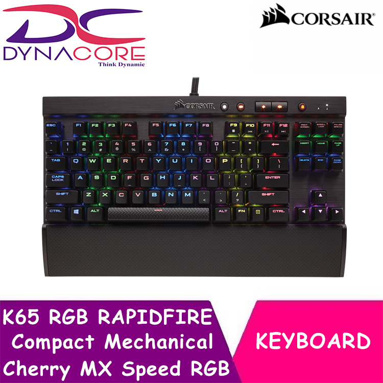 DYNACORE - CORSAIR K65 RGB RAPIDFIRE Compact Mechanical Gaming Keyboard — Cherry MX Speed RGB Singapore