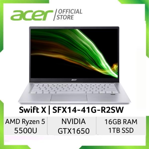 [NEW MODEL] [NVIDIA GTX 1650 GRAPHIC and Ryzen 5 5500U] Acer Swift X SFX14-41G-R2SW 14-Inch FHD IPS 100%sRGB Laptop   16GB RAM   1TB SSD