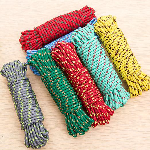 Outdoor Extended Strong Clothesline Air Dry Clothes Nylon Rope Strap on Food Sun Blanket Lanyard