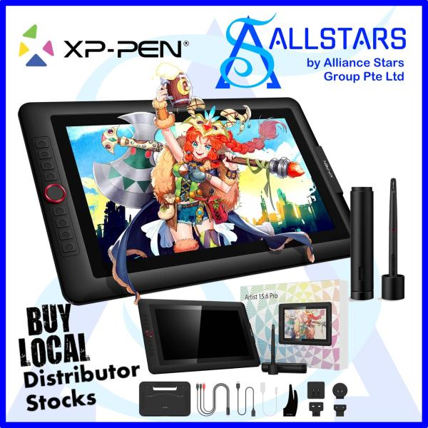(ALLSTARS : We are Back / Drawing PROMO) XP-Pen Artist Display 15.6 Pro Drawing Pen Display Tablet / 15.6 inch Full HD (XPPen / XP Pen) / Drawing Tablet / Pen Monitor Drawing Tablet (support Windows/Mac) (Warranty 1year with Local Distributor Avertek)