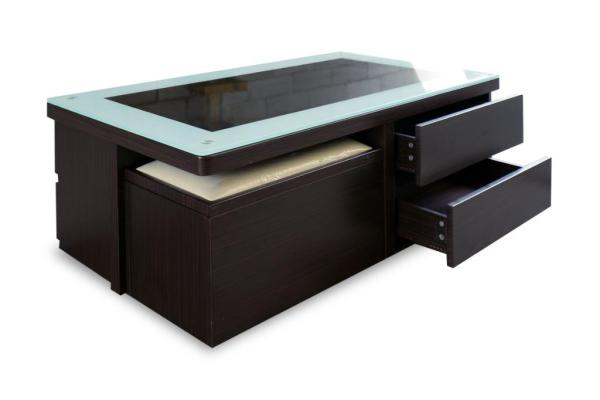 Connie Display Coffee Table with Stool