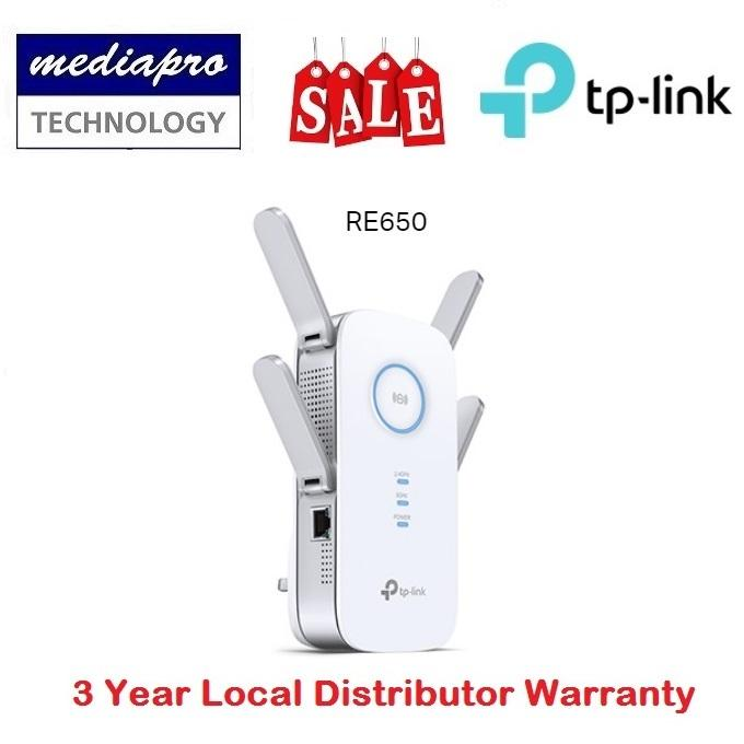 TP Link RE650 AC2600 Wi-Fi Range Extender / AP - 3 Years Local Agent  Warranty