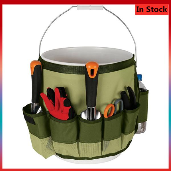 Ltp Multi-Purpose Garden Kit Bucket Pack Multi Pockets Gardening Tools Kit Storage Bucket Bag Handbag Holder Organizer