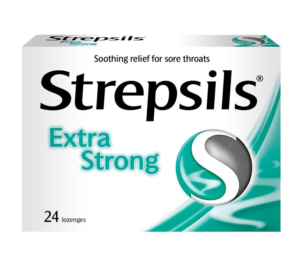 Strepsils Extra Strong Lozenges 24/box By The Dental Pharm.